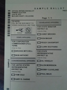 Republican Primary Ballot