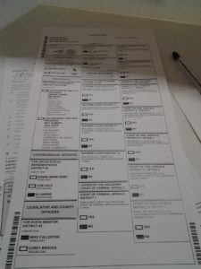 My Ballot, Front Page