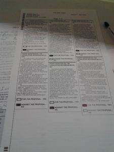 My Ballot, Back Page